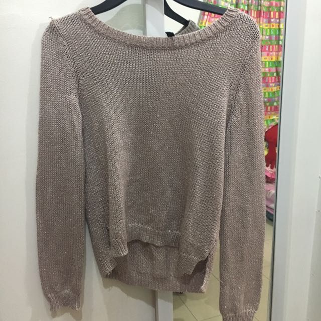Divided H&m Pink Glitter Sweater