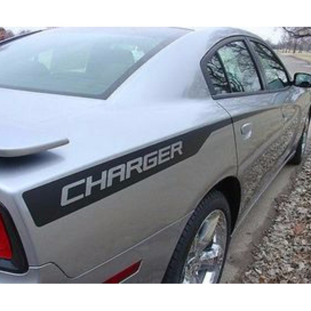 DODGE CHARGER Graphic Kit Decal MATTE BLACK 2011-2014 Quarter Panel