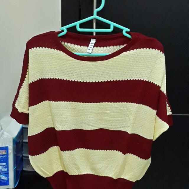 [Elle] Knit Blouse
