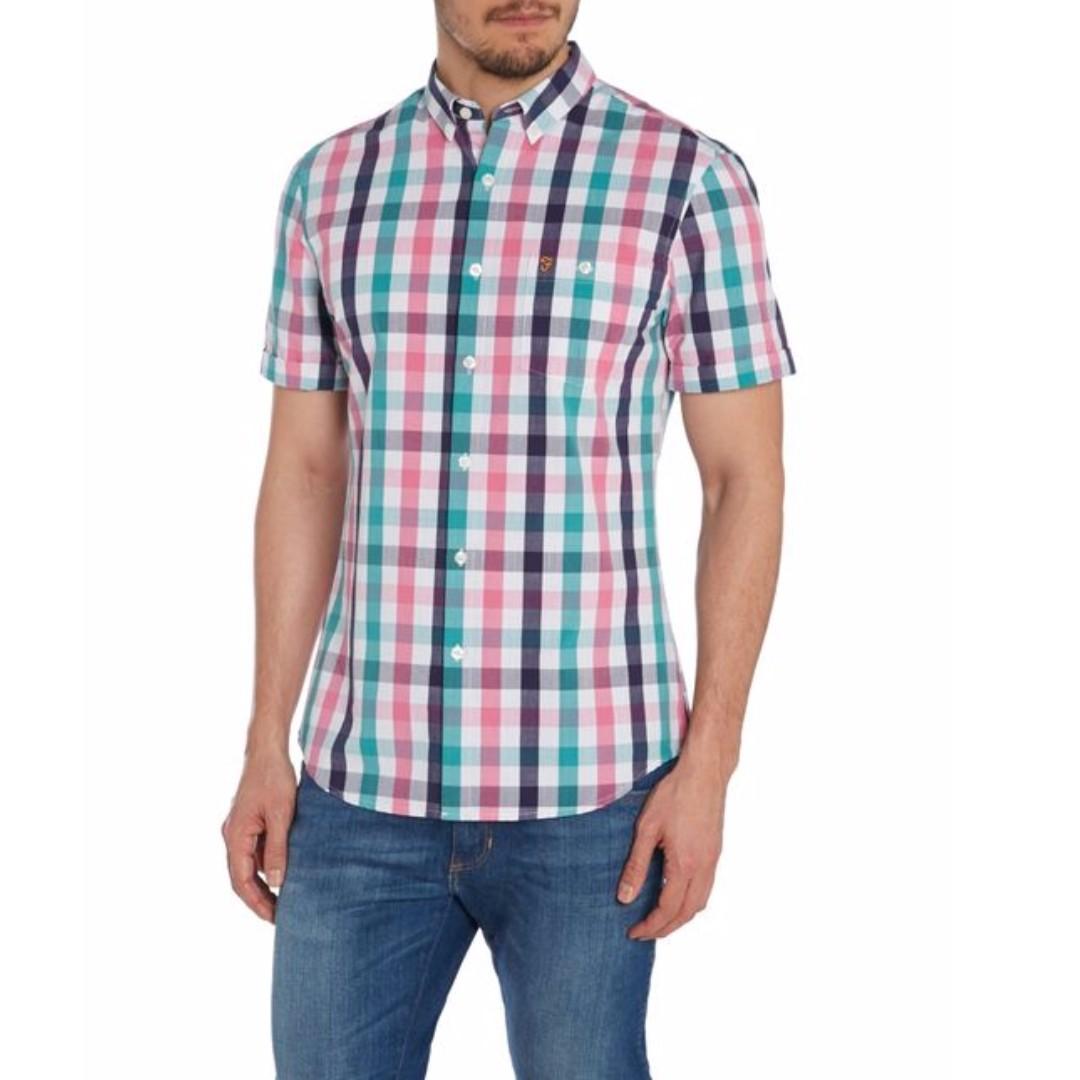 Farah Chiltern Pink Check Shirt - Azealia (UK Brand)