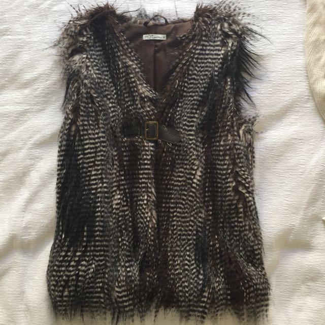 Faux Feather Vest
