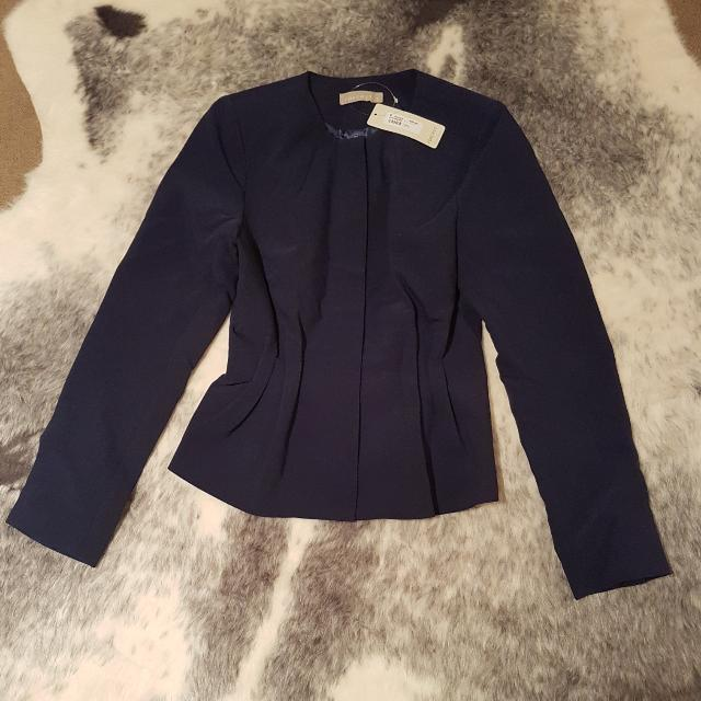 Forcast Navy Blue Jacket - Size 6