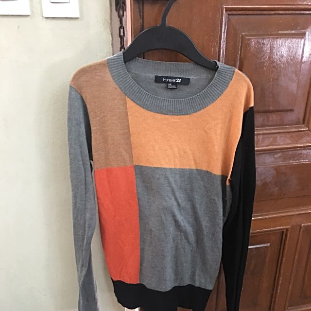 Forever 21 Color Block Sweater