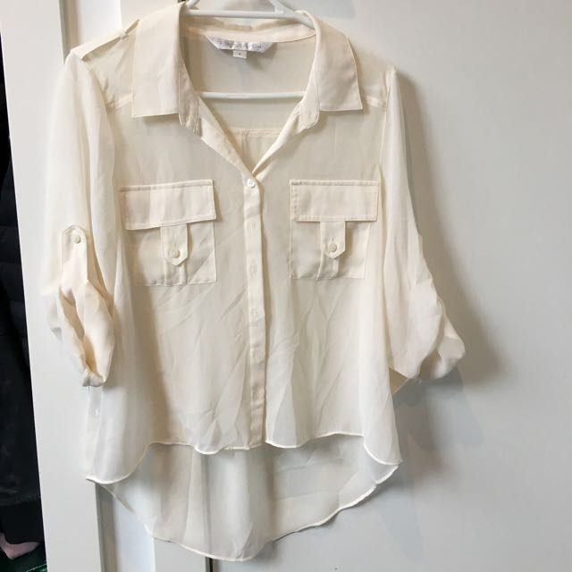 Forever New High low Blouse Size 6