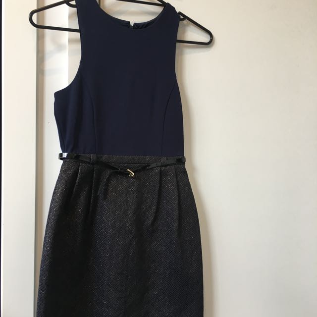 Forever New Navy Blue Dress Size 6