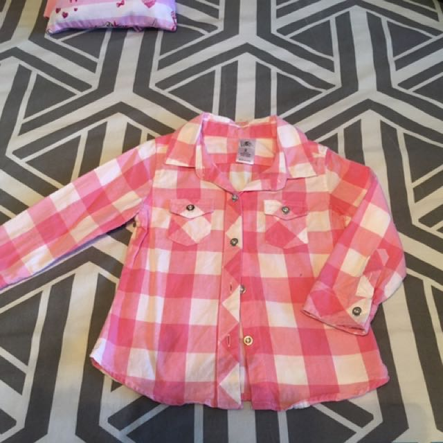Girls  Flanalete  Button Up Shirt