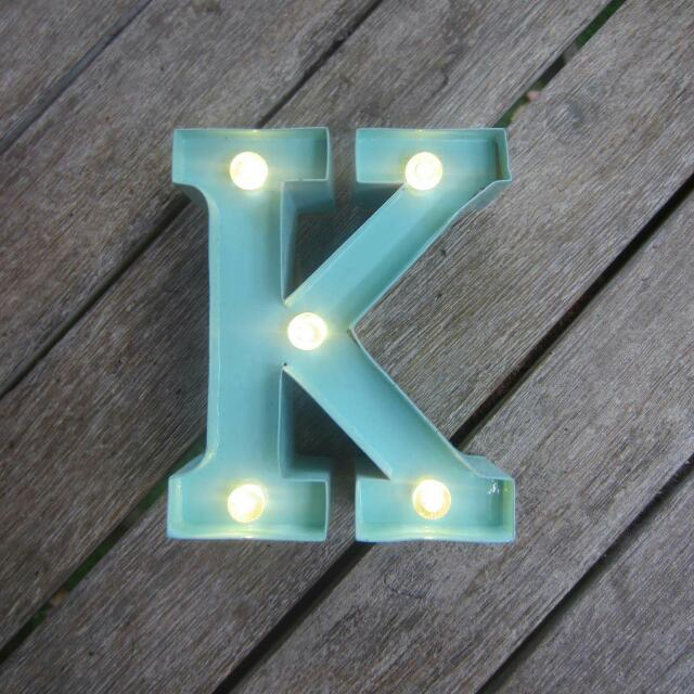 Glowing K Light From Typo