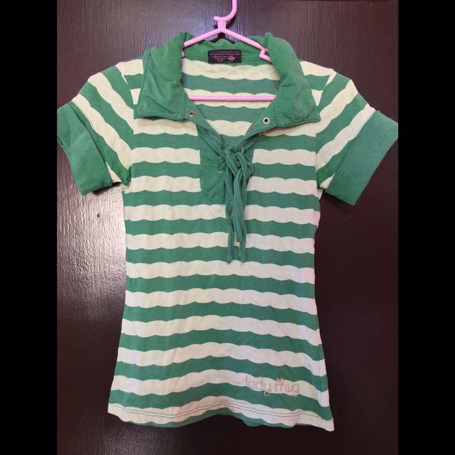 JAG Green Stripes Polo Shirt