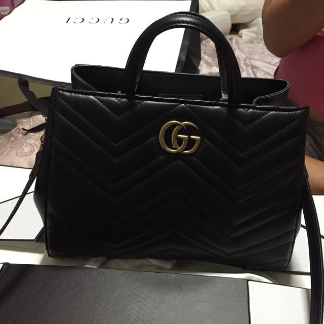 6f218ddfeb61 Gucci Marmont matelassé top handle bag, Luxury, Bags & Wallets on ...
