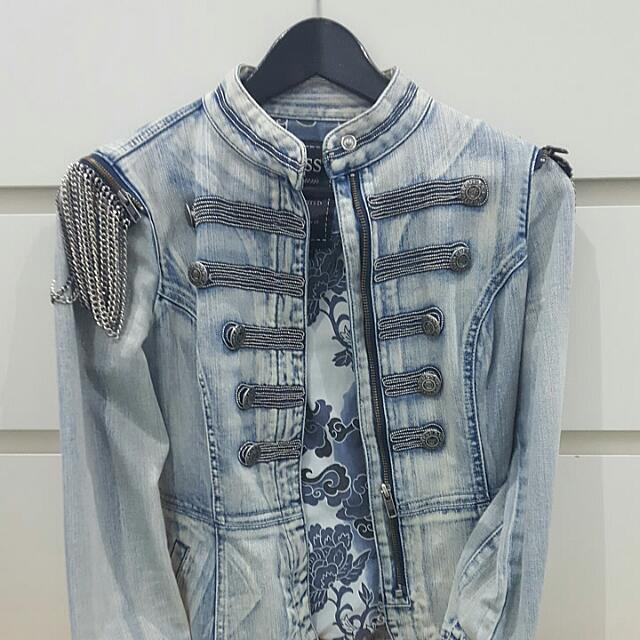 Guess Premium Special Limited Edition Jean Brittish Soldier Jean Jacket
