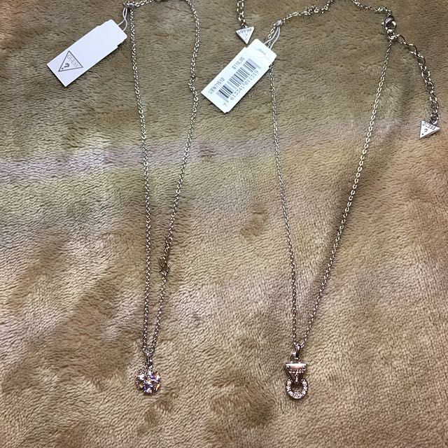 GUESS SILVER WITH TAGS Necklaces 🎁 RRP $129.00