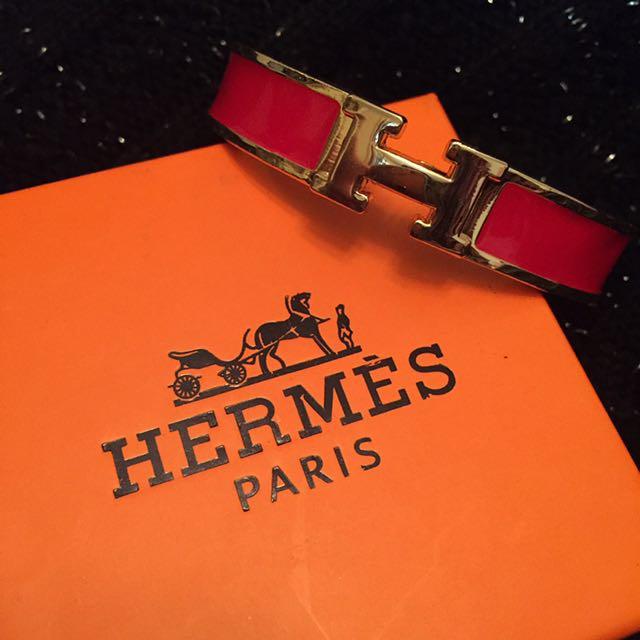 Hermés Clic Bracelet Red