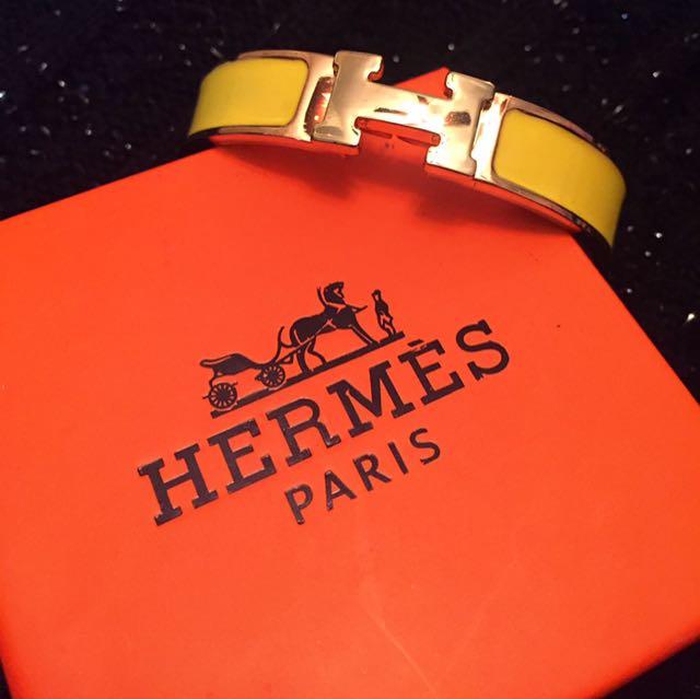 Hermés Clic Bracelet Yellow