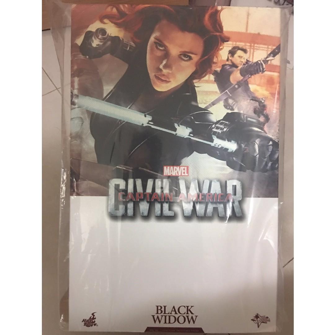 HOT TOYS 發行-美國隊長 : 英雄內戰 – BLACK WIDOW 黑寡婦 公仔