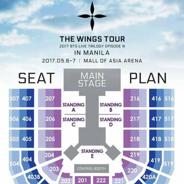 Im Looking On Wings Tour Manila Ticket