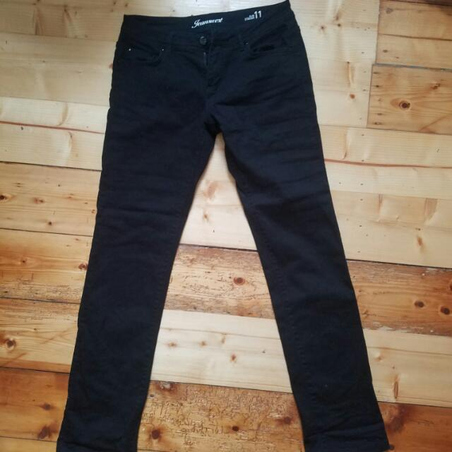 JeansWest Slim Straight Black Jeans