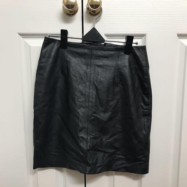 Just Female Glue Store Mini Leather Skirt XS