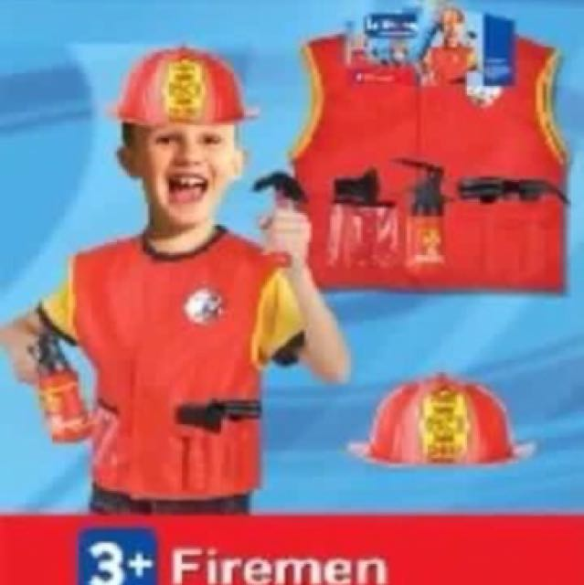 Kids Career Costume Fireman