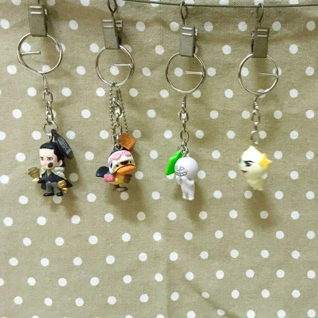 扭蛋鑰匙圈(航海王、LINE、、銀魂、柴犬、玩具總動員)
