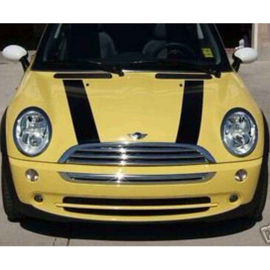 "MINI COOPER BONNET STRIPES HOOD 5"" WIDE 02-13 DECALS VINYL GRAPHICS STICKERS"