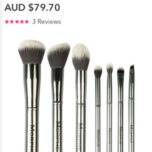 Morphe Gun Metal Brush Set