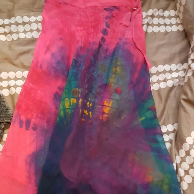 Multi-colour Chiffon Skirt!