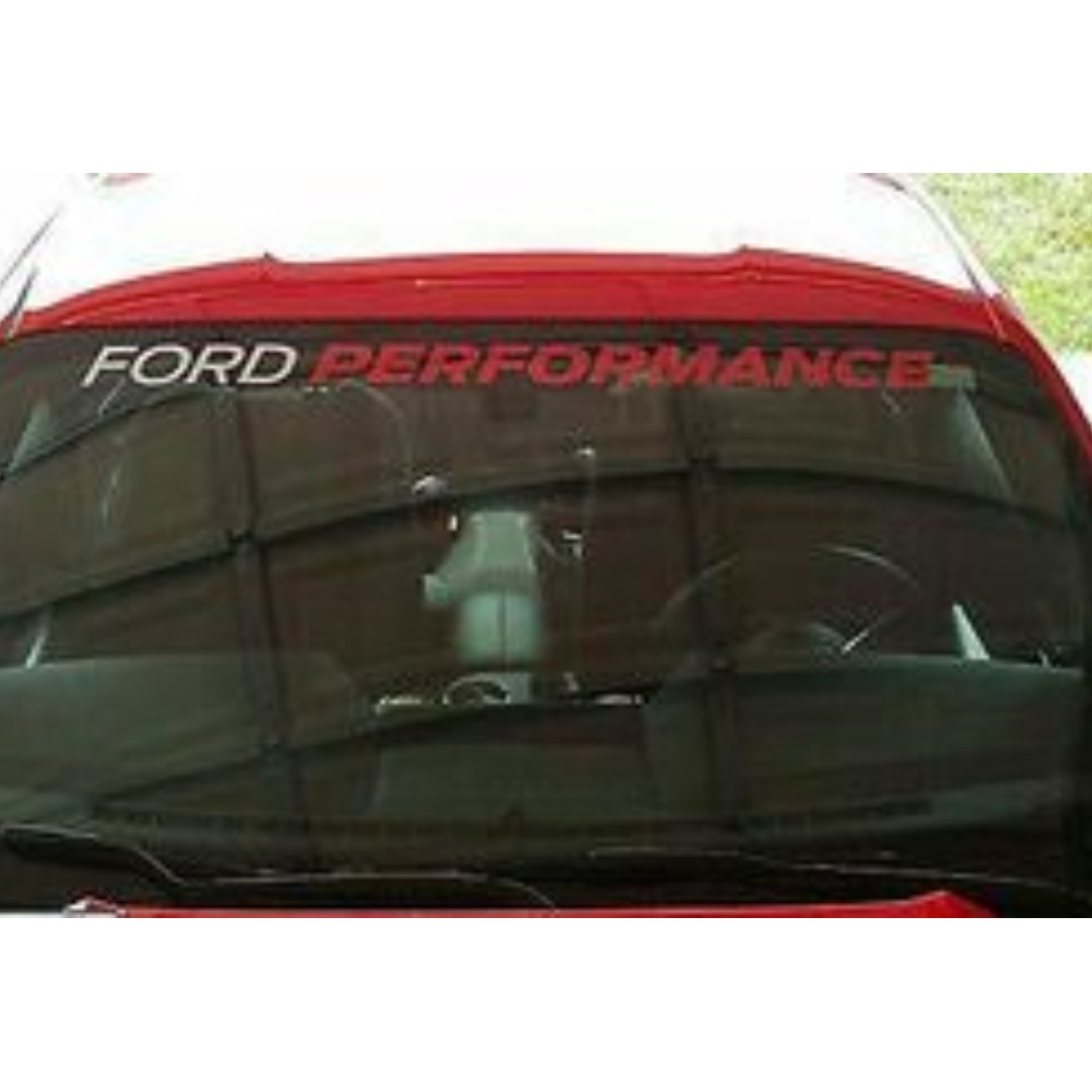 MUSTANG FORD PERFORMANCE WINDSHIELD BANNER STICKER VINYL GRAPHICS LICENSED DECAL