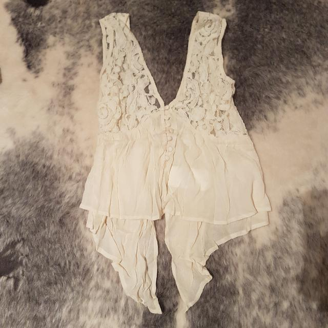 Nasty Gal / Dance & Marvel Cream Top - Size Small