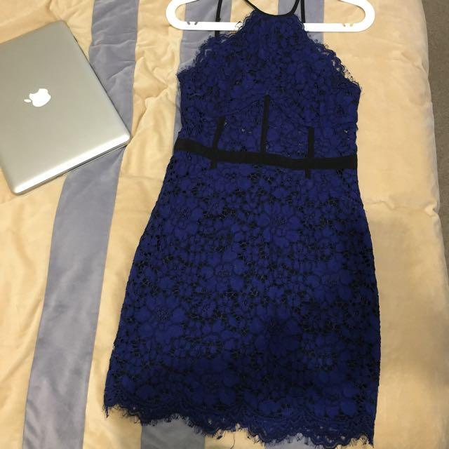 NBD Dress in Cobalt