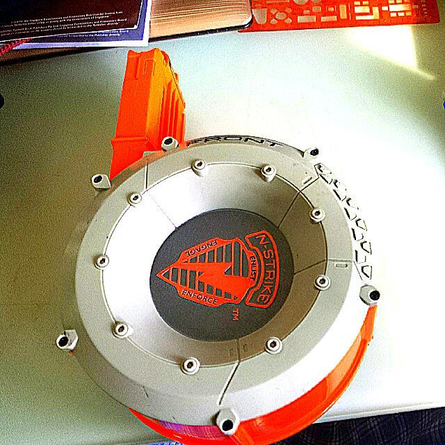 Nerf N Strike Elite Rampage Main Blaster W Extended Arm 25 Round Drum Clip