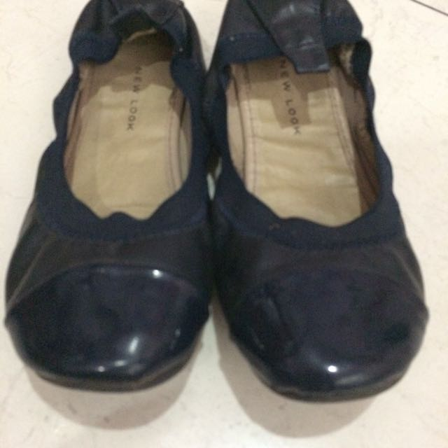 New Look Navy Flatshoes