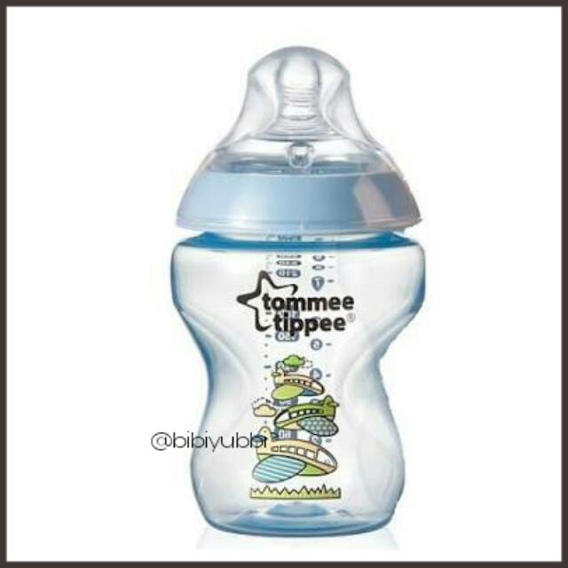 NEW Tommee Tippee Closer to Nature Decorated Feeding Bottle 260ml 9oz