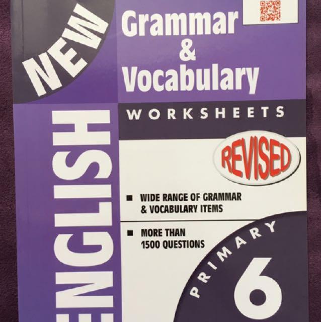 P6 New Revised English Grammar Vocabulary Worksheets Eph Books. Worksheet. Vocabulary Worksheet The Crucible At Clickcart.co