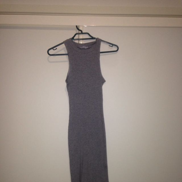 PARE-basic Ribbed Bodycon Dress - Size 8