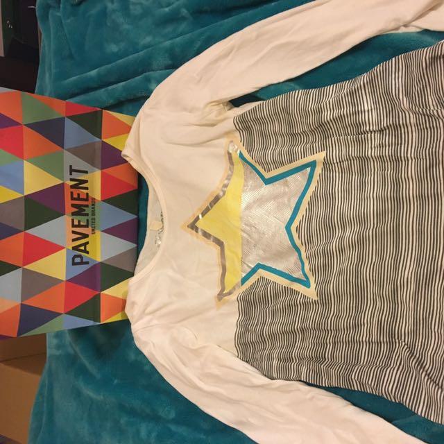 Pavement Star Striped Print Long Sleeve