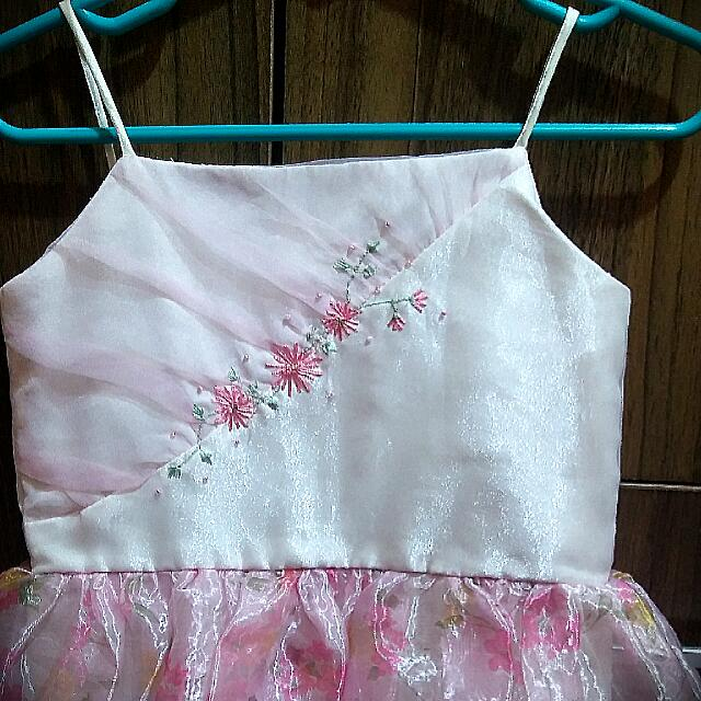 Repriced Pink Sheer Bottom Gown For 2-3 Years Old