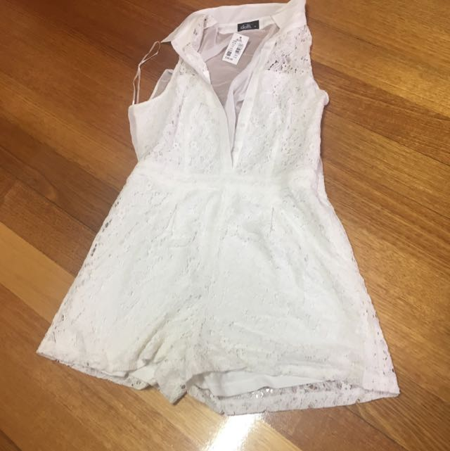 Playsuit Lace White Size 10