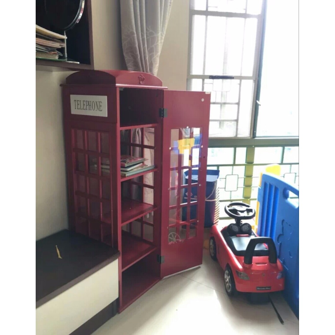 PO Telephone Booth Cabinet Wardrobe, Furniture, Shelves U0026 Drawers On  Carousell