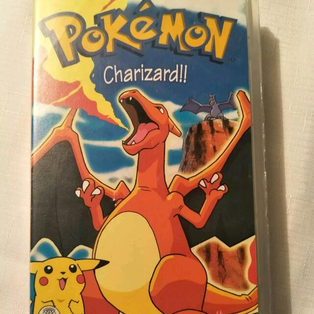 Pokemon 'Old School' Cards & Charizard VHS