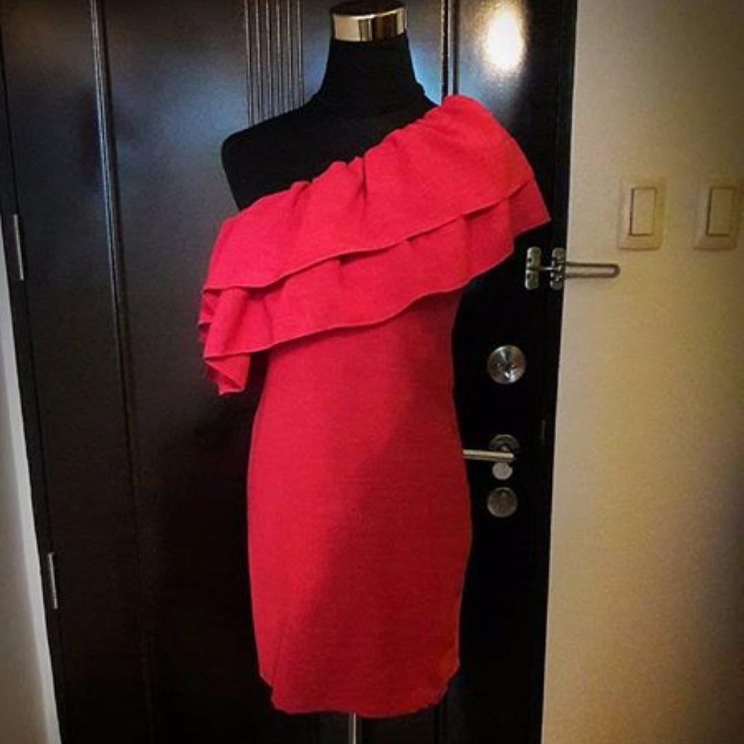 Preloved One-Sided Mini Dress