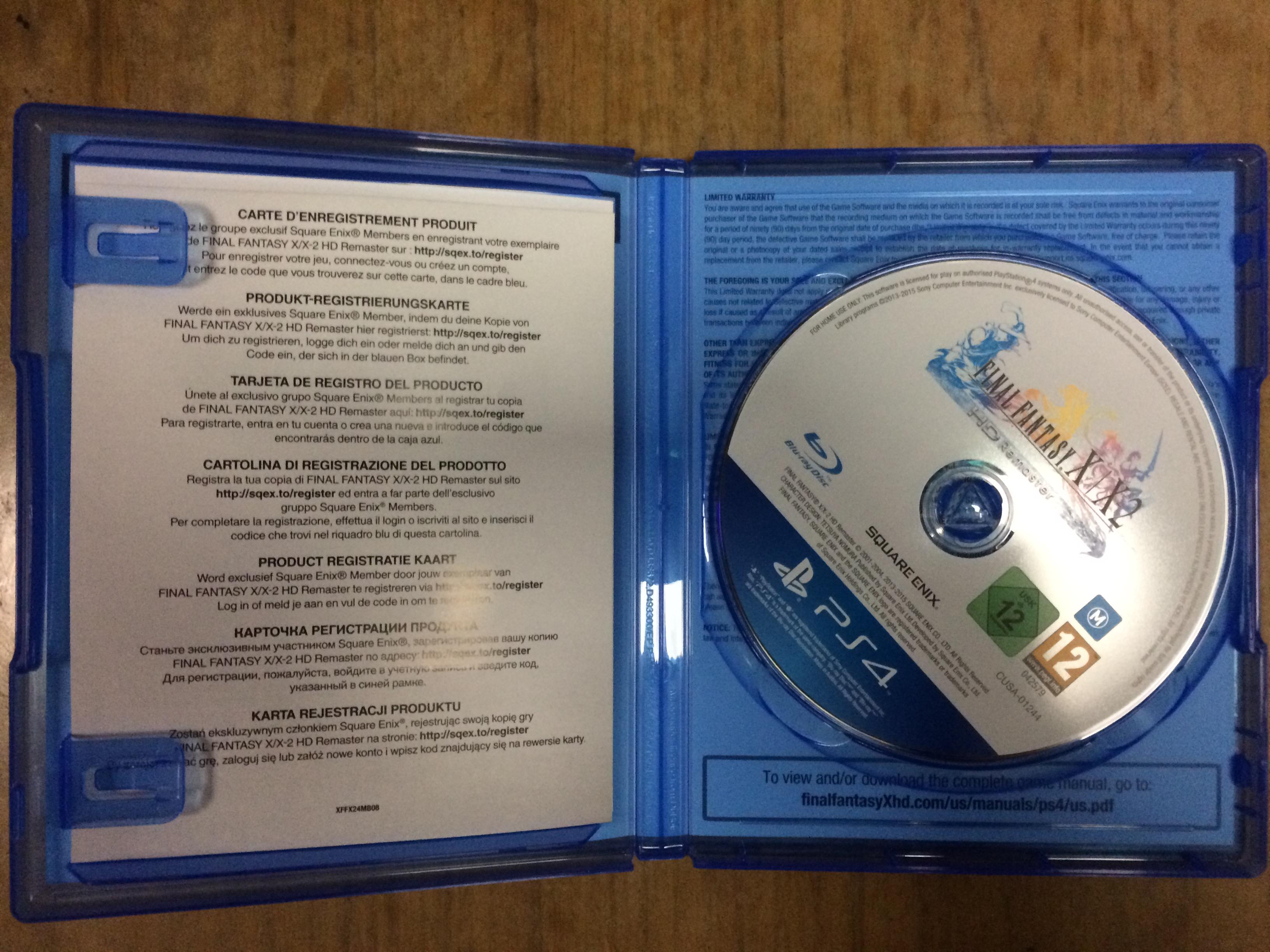 PS4 Final Fantasy X/X-2 HD Remaster (R2) - $25 [no Steelbook]