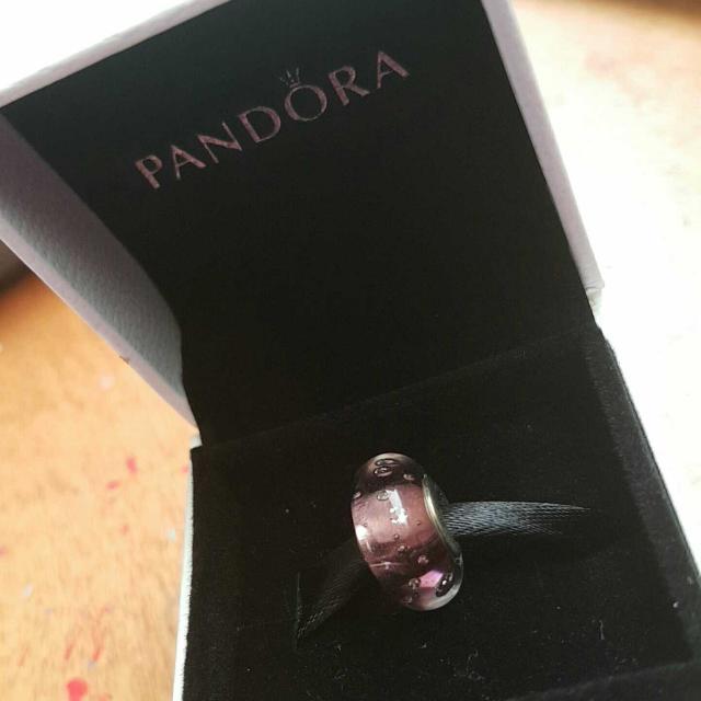 Purple Pandora Charm