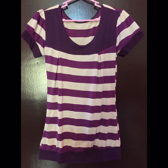 Purple Stripes Top