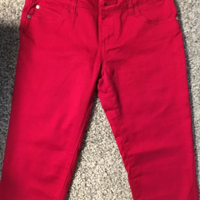 Red Skinny Jeans Size 5 (27)