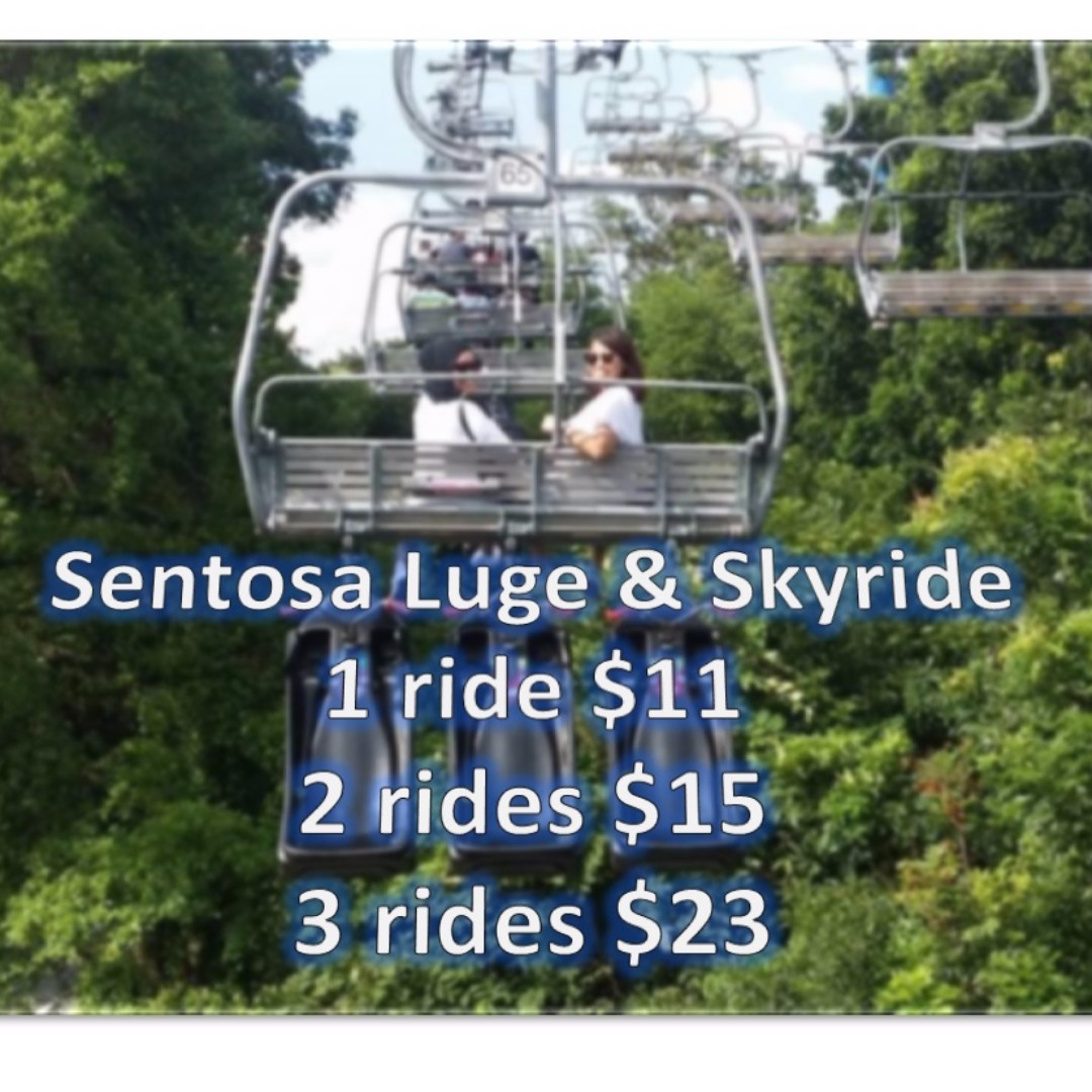 Sentosa Luge Skyride Tickets Entertainment Attractions On Carousell Tiket Butterfly Park Insect Kingdom