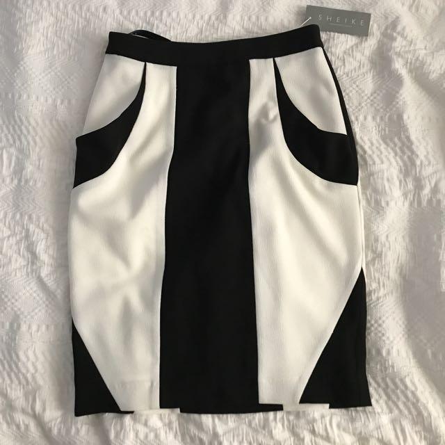 Sheike Dimensions Skirt - Black White