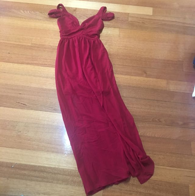 Show Po Formal Dress Red