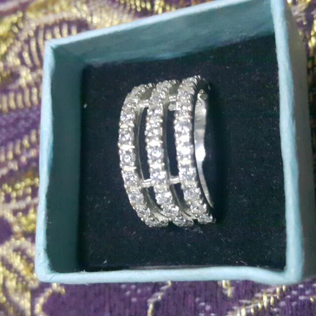 Silver Ring With Stones