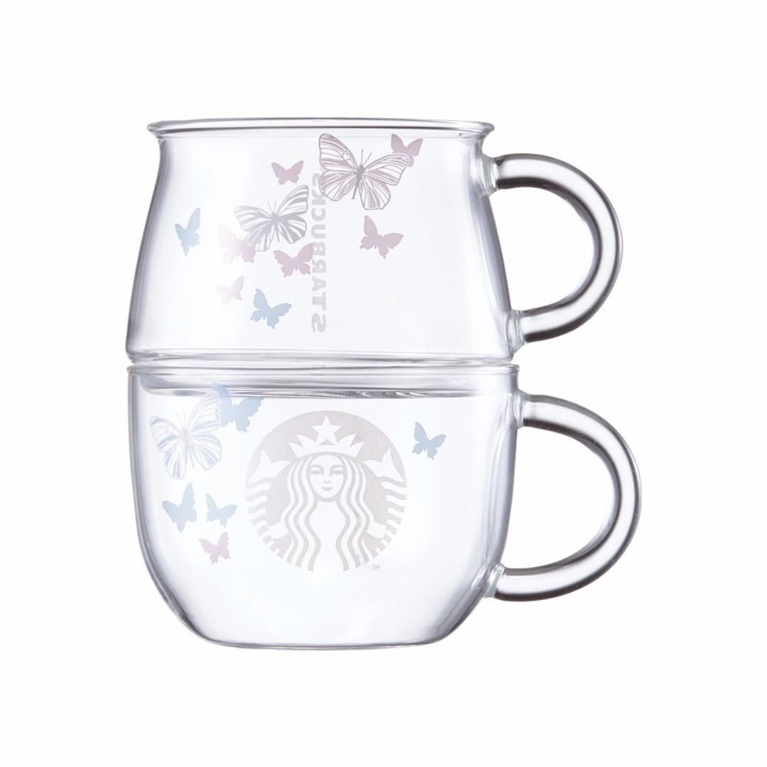 Starbucks Korea Butterfly Stacking Glass Set