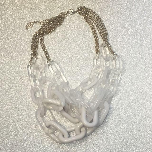 Stradivarius White Necklace
